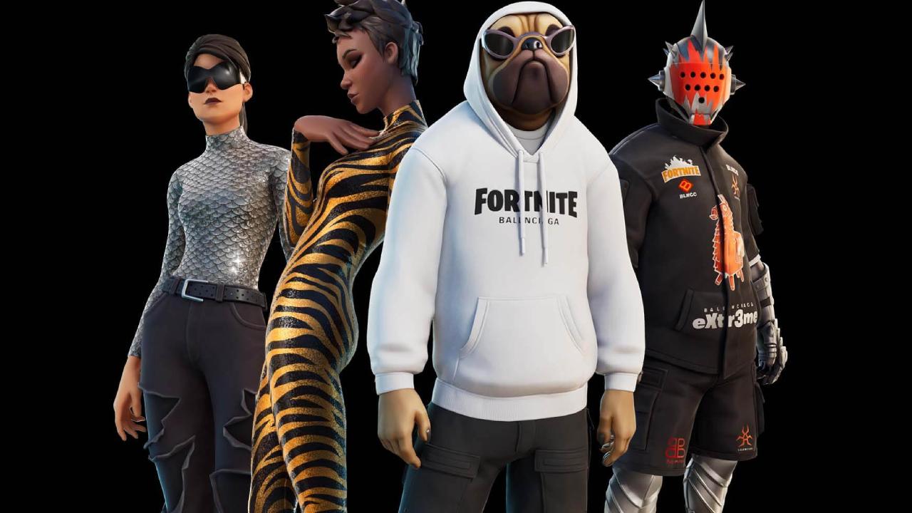 Los precios de la colaboración de Fortnite con la marca de moda Balenciaga harán que tus ojos se llenen de agua